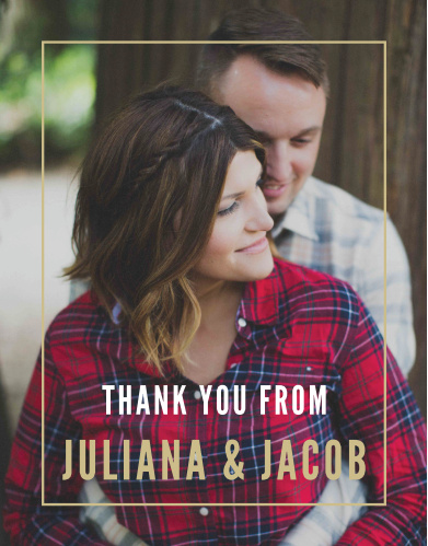 Wedding thank you cards wedding thank you notes by basic invite modern appeal wedding thank you cards junglespirit Image collections