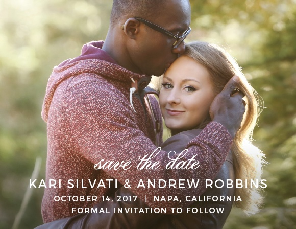 Straightforward yet refined, the Exquisite Class Save-the-Date Cards puts your engagement photo as the focus of this design.
