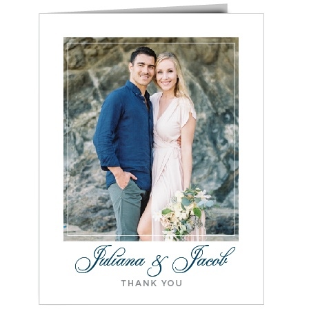 Share your gratitude with the Contemporary Frame Thank You Cards.