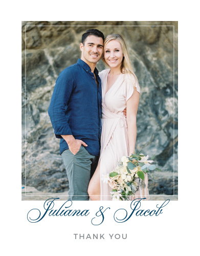 Contemporary Frame Wedding Thank You Cards
