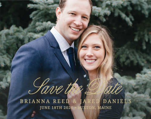 The Modern Forever Save-the-Date Cards are classic announcements with a fresh look.