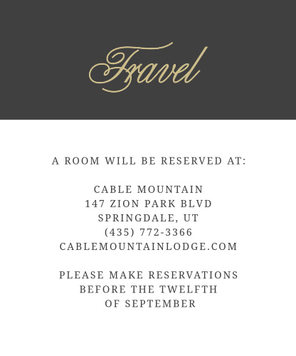 Many of your guests will travel a long distance to be at your big event, so make sure they know the best places to stay and how to travel to be at your wedding with the Modern Forever Accommodation Cards!