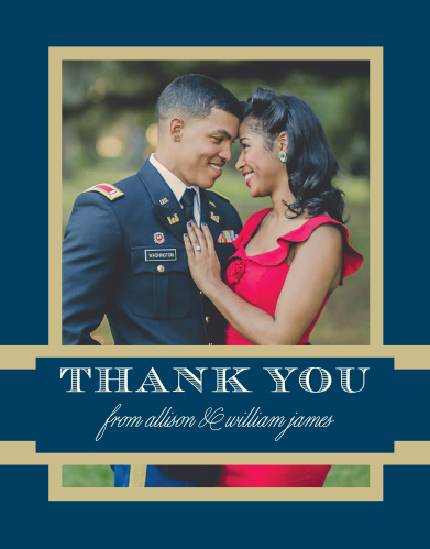 Share your gratitude and a wedding photo with the Snapshot Script Wedding Thank You Cards.