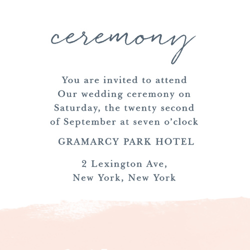 Make sure guests have all the information they need with the Brushed Frame Ceremony Cards.