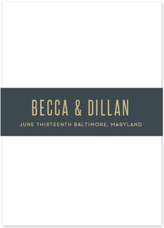 Keep your whimsical wedding stationery tidy with the Classy Confetti Belly Bands.