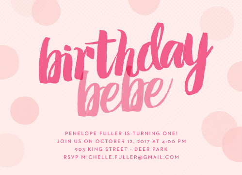 First birthday invitations 40 off super cute designs basic invite big script girl first birthday invitations filmwisefo