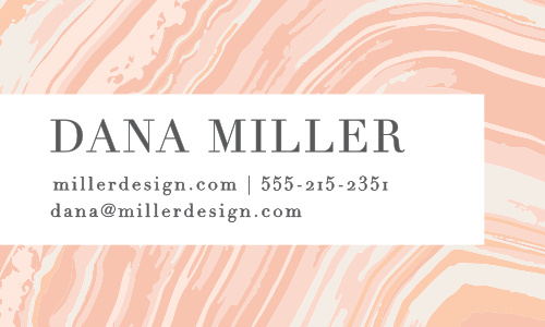 A classic pattern gets a modern update on the Marbled Paper Business Cards.