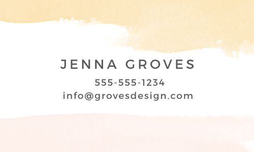 Create your artistic and professional business card with the Dip Dye Business Cards.