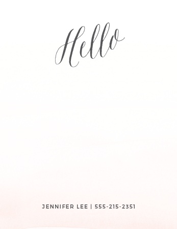 Create a letterhead to match your unforgettable business cards with the Painted Wash Business Stationery.