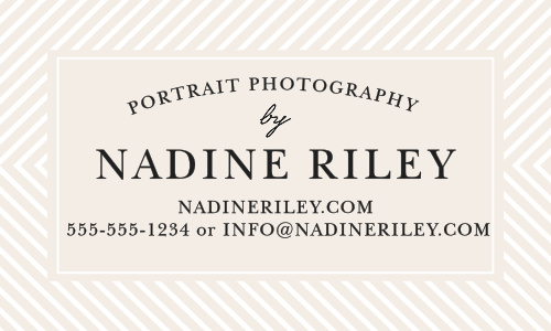 Promote your business with the Modern Stripe Business Cards.