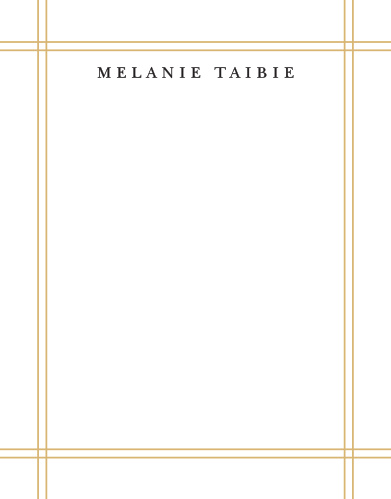 Create your elegant letterhead with the Simple Frame Foil Business Stationery.