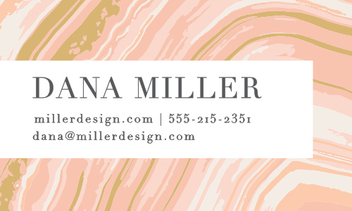 A classic pattern gets a modern update on the Marbled Paper Foil Business Cards.