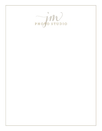 Make your logo your letterhead with the Custom Logo Business Stationery.