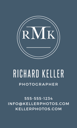 Create professional cards that highlight your monogram with the Circle Monogram Business Cards.