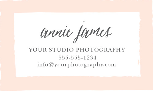 A soft, painterly style gives the Painted Border Business Cards artistic appeal.