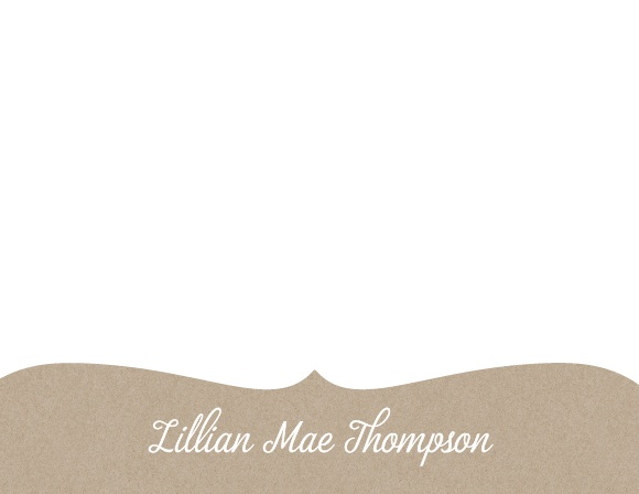 Add your name in your choice of colors and fonts to the Kraft Frame Business Stationery.