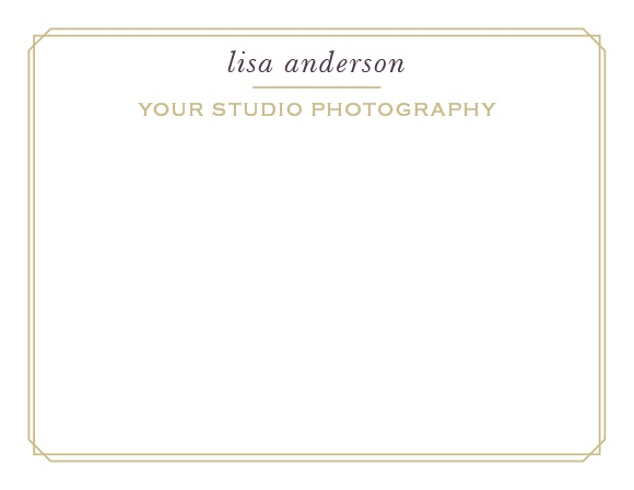 A delicate border reminiscent of an old-fashioned photo album elegantly frames the Vintage Photo Album Business Stationery.
