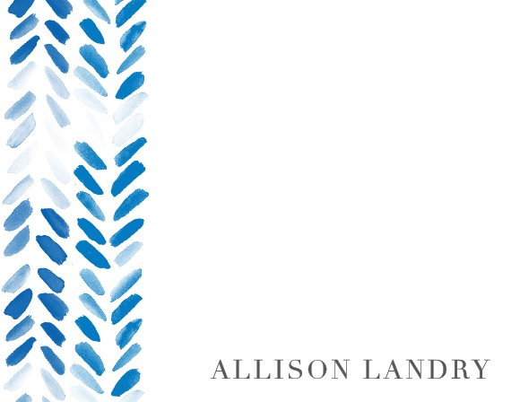 A beautiful brushstroke pattern decorates the left side of the Painted Chevron Business Stationery.