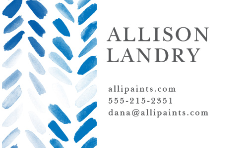 Promote your business with the artistic design of the Painted Chevron Business Cards.