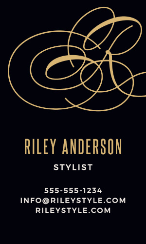 Advertise your business with the flourish of the Script Monogram Foil Business Cards.