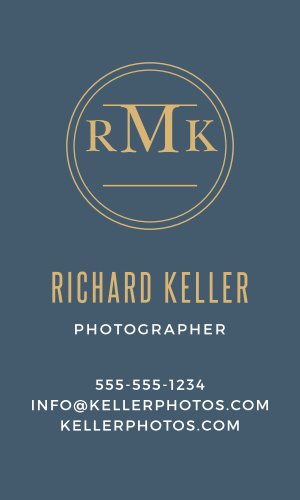 Create professional cards that highlight your monogram with the Circle Monogram Foil Business Cards.