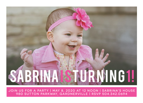 Show off your little lady with the Simply Photogenic Girl First Birthday Invitations.