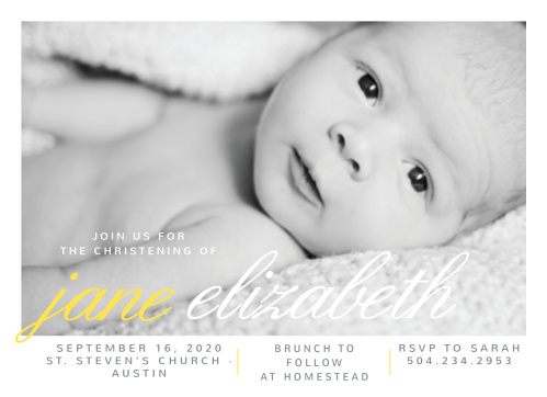 Create chic invitations for your child's baptism or christening with the La Moderne Baptism Invitations.