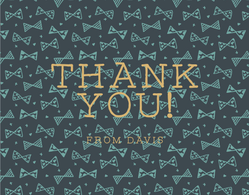 Share your gratitude with the playful pattern of the Busy Bows Foil  Thank You Cards.