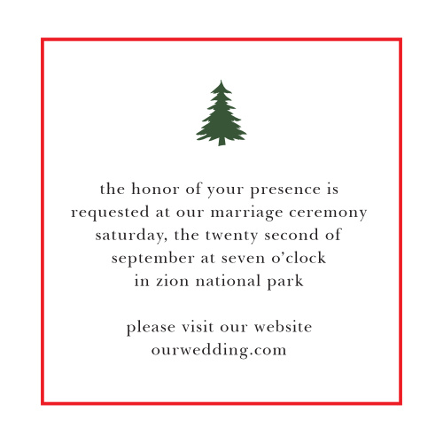 Customize the Cozy Plaid Ceremony Cards as invites to your wedding ceremony, as rehearsal dinner invitations, or for any other details you feel guests should have.