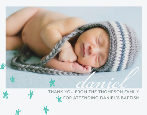 Send your thanks with the relaxed style of the Doodle Petal Boy Thank You Cards.