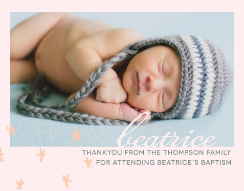 Send your thanks with the relaxed style of the Doodle Petal Girl Thank You Cards