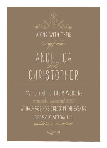 Invite friends and family to your fall wedding with the Elegant Autumn Wedding Invitations.