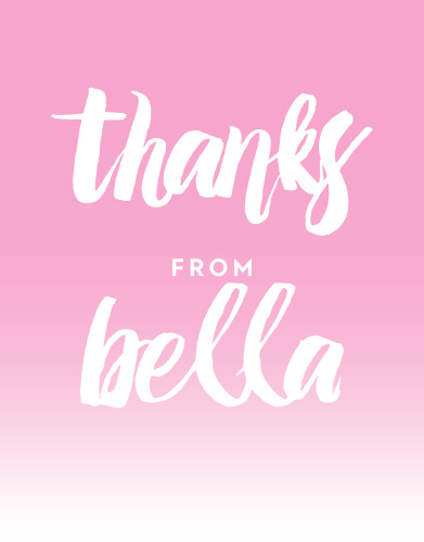 Convey your gratitude for the friends and family who celebrated your daughter's first birthday with the Fading Color Girl First Birthday Party Thank You Cards.