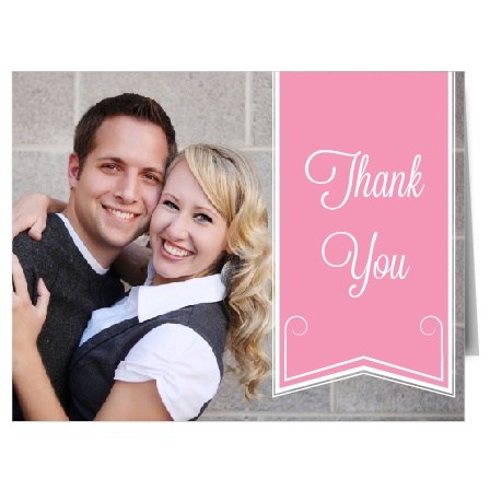 The Ribbon and Scrolls thank you card is the perfect compliment to your invitation! Keep the style of your wedding going till the very last thank you with this beautiful card.