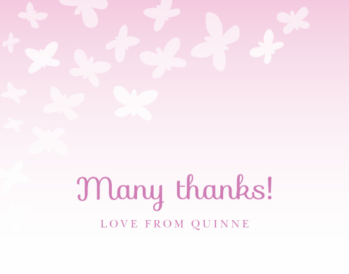 Share your gratitude with the Beautiful Butterflies Thank You Cards.