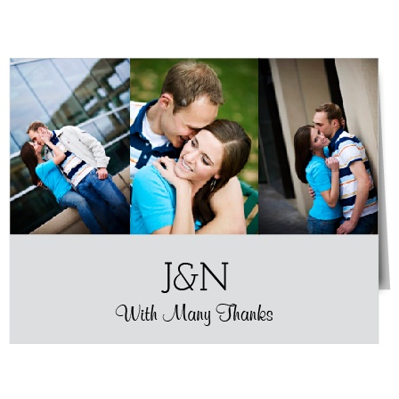 The Perfectly Personalized thank you is perfect for the newlyweds that want to show off some of their wedding photographs!