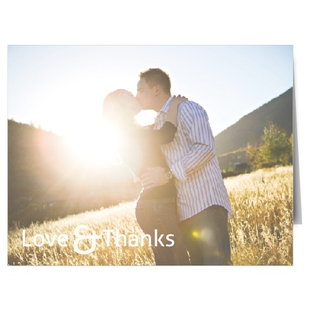 It features one large photo over the entire front of the card! A beautiful way to show them that you are grateful.