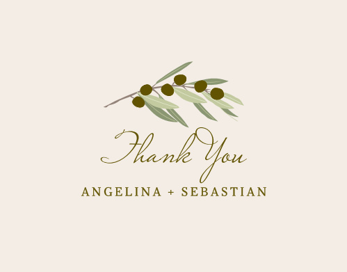Share your gratitude with the Mediterranean Romance Thank You Cards.
