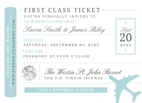 bon voyage wedding invitations