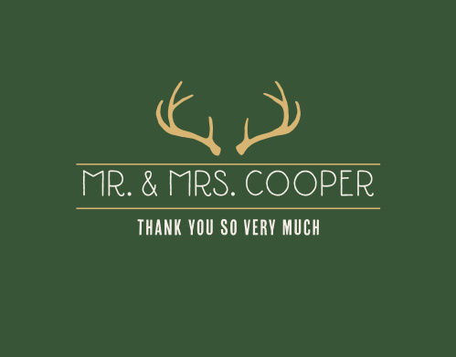 Complete your wedding stationery with the Summer Camp Weekend Foil Thank You Cards.