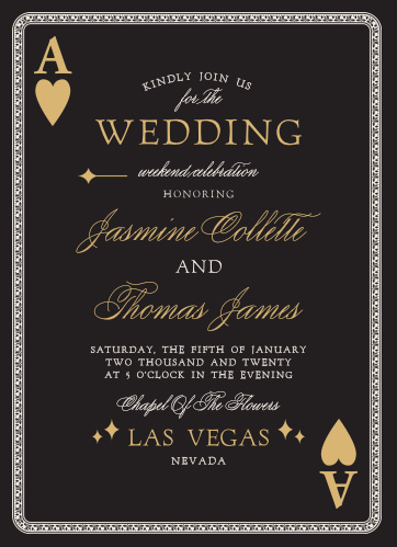 You're betting on a winner with the Lady Luck Foil Wedding Invitations.