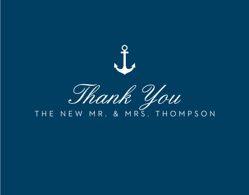 Share gratitude for your guests with the Nautical Compass Thank You Cards.