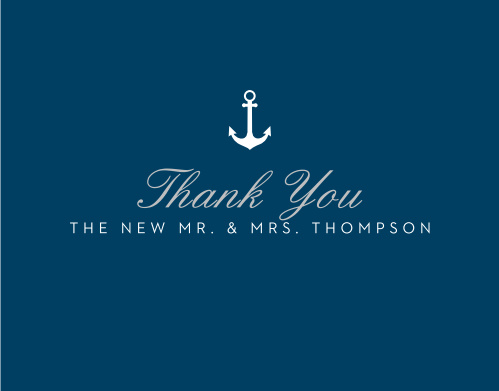 Share gratitude for your guests with the Nautical Compass Foil Thank You Cards.