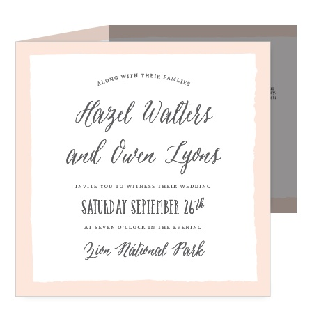 Give guests an invitation they'll remember with the Painted Border Storybook Wedding Invitations.