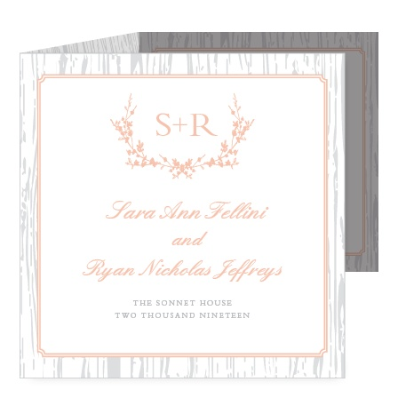 Prepare guests for a refined country wedding with the Rustic Wreath Storybook Wedding Invitations.