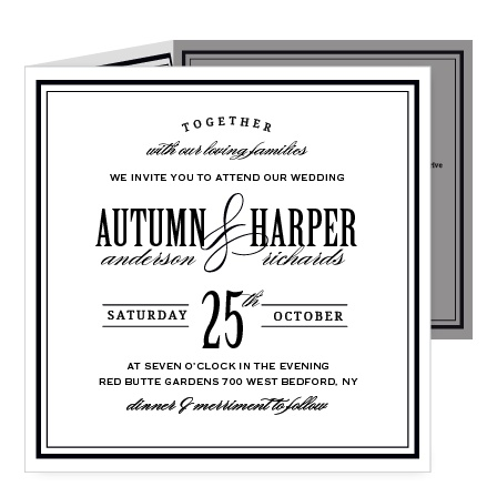Invite guests with the timeless sophistication of the Antique Elegance Storybook Wedding Invitations.
