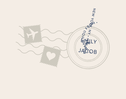 Spread your gratitude with the cute, illustrated design of the Posh Postmark Thank You Cards.
