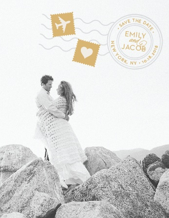 Posh Postmark Foil Save-the-Date Cards