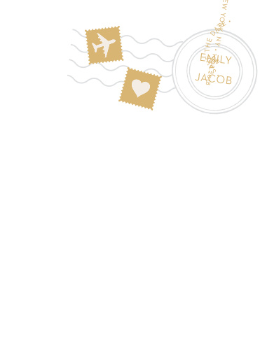 Announce your upcoming wedding with the unforgettable style of the Posh Postmark Foil Save-the-Date Cards.