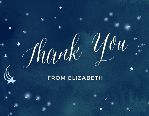 Thank the friends and family who showered you with gifts for your baby with the Twinkle Twinkle Baby Shower Thank You Cards from the Love Vs Design Collection at Basic Invite.
